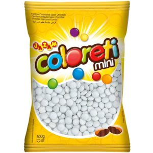 Mini Confete Coloreti Chocolate Branco 500g